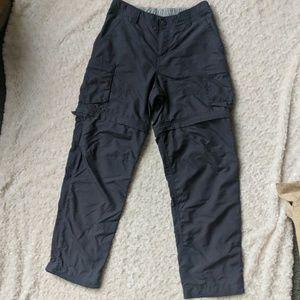 REI Women's Grey Nylon Convertible Zip Off Hiking